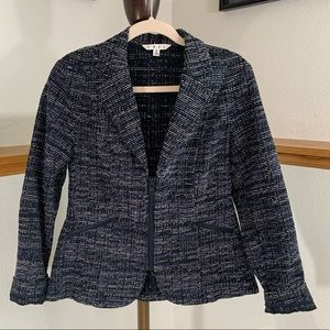 Cabi Zip Up Black and Blue Blazer